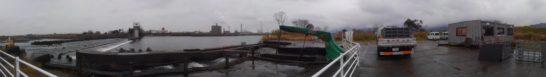 球磨川漁協 鮎 掬い上げ球磨川提パノラマ