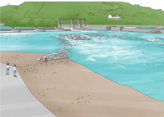 遥拝堰 堰復元計画